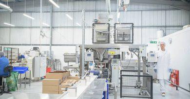 Salle de production d'une industrie agroalimentaire