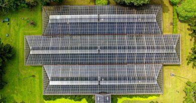 Panneaux solaires vus de haut
